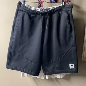 Abercrombie black shorts